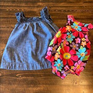 2 piece girls Gap / Carter's bundle. 6 - 9 month